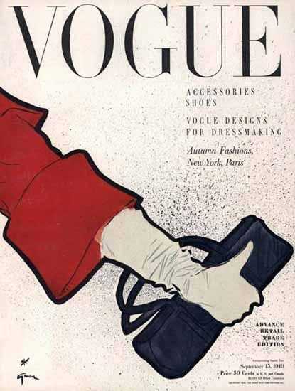 Vogue Cover 1949-09-15 Copyright | Vogue Magazine Graphic Art Covers 1902-1958