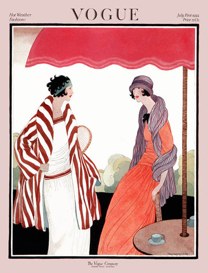 Vogue Cover Copyright 1922 Hot Weather Fashion | Sex Appeal Vintage Ads and Covers 1891-1970