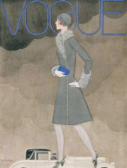 Vogue Cover Copyright 1928 Rolls-Royce Lady | Sex Appeal Vintage Ads and Covers 1891-1970