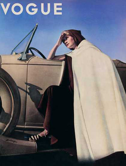 Vogue Cover Copyright 1935 The Automobile | Sex Appeal Vintage Ads and Covers 1891-1970