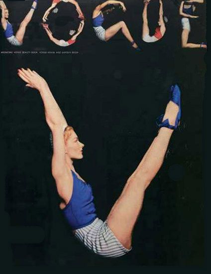Vogue Cover Copyright 1940 Gym Number   Sex Appeal Vintage Ads and Covers 1891-1970