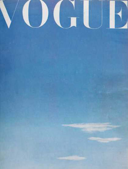 Vogue Cover Copyright 1945 Blue Sky | Vintage Ad and Cover Art 1891-1970