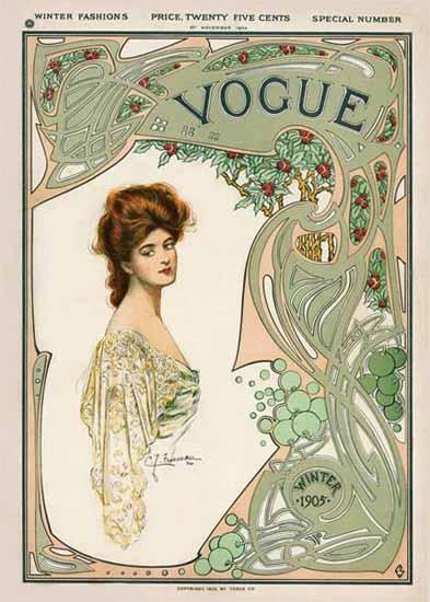 Vogue Magazine 1904-11-10 Copyright | Vogue Magazine Graphic Art Covers 1902-1958