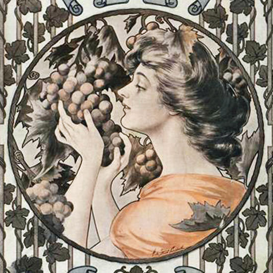 Vogue Magazine 1906-09-20 Copyright crop | Best of Vintage Cover Art 1900-1970