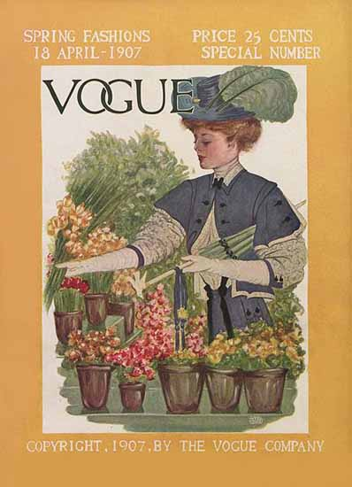 Vogue Magazine 1907-04-18 Copyright | Vogue Magazine Graphic Art Covers 1902-1958