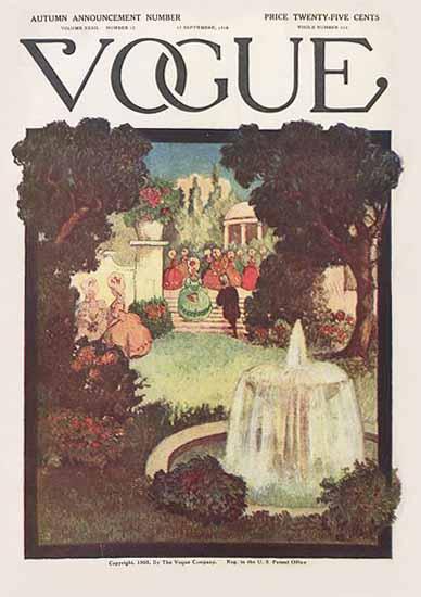Vogue Magazine 1908-09-17 Copyright | Vogue Magazine Graphic Art Covers 1902-1958