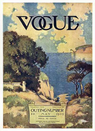 Vogue Magazine 1909-05-20 Copyright | Vogue Magazine Graphic Art Covers 1902-1958
