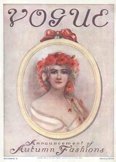 Vogue Magazine 1909-09-18 Copyright | Vogue Magazine Graphic Art Covers 1902-1958