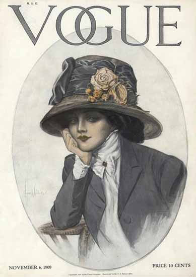Vogue Magazine 1909-11-06 Copyright | Vogue Magazine Graphic Art Covers 1902-1958