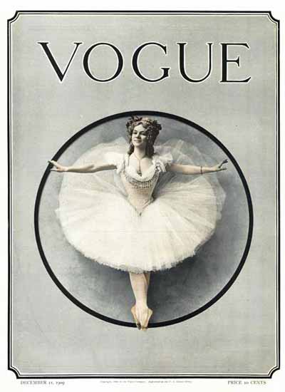 Vogue Magazine 1909-12-11 Copyright | Vogue Magazine Graphic Art Covers 1902-1958