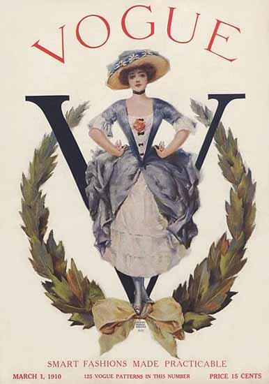 Vogue Magazine 1910-03-01 Copyright   Vogue Magazine Graphic Art Covers 1902-1958