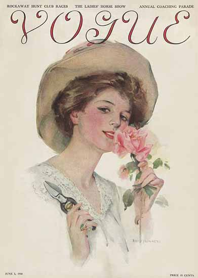 Vogue Magazine 1910-06-01 Copyright | Vogue Magazine Graphic Art Covers 1902-1958
