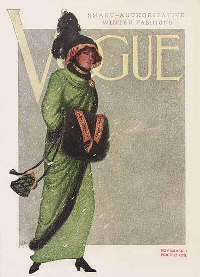Vogue Magazine 1910-11-01 Copyright | Vogue Magazine Graphic Art Covers 1902-1958