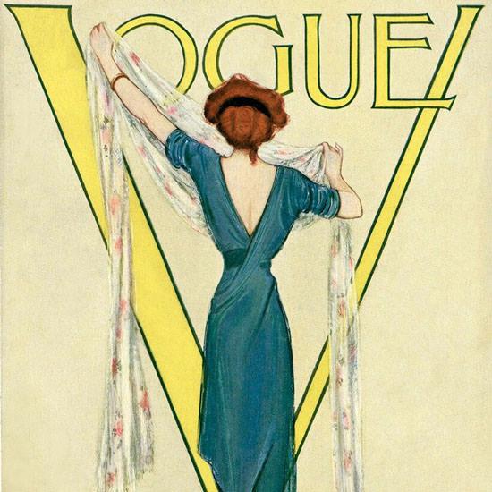 Vogue Magazine 1911-03-15 Copyright crop | Best of Vintage Cover Art 1900-1970