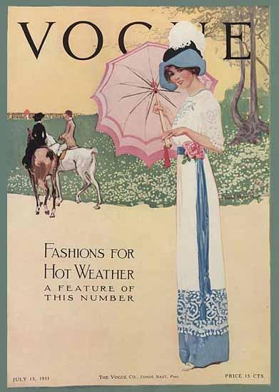 Vogue Magazine 1911-07-15 Copyright   Vogue Magazine Graphic Art Covers 1902-1958