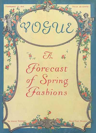 Vogue Magazine 1912-02-15 Copyright | Vogue Magazine Graphic Art Covers 1902-1958