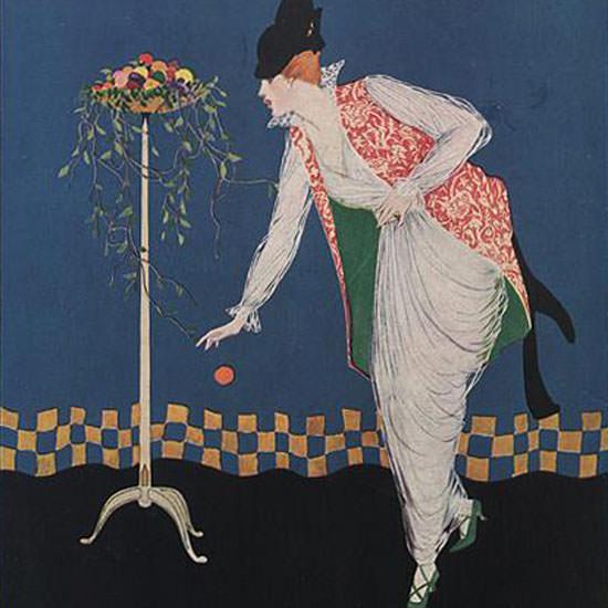 Vogue Magazine 1914-04-15 Copyright crop | Best of Vintage Cover Art 1900-1970