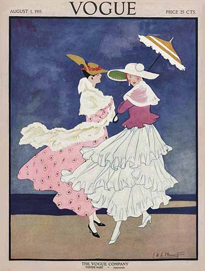 Vogue Magazine 1915-08-01 Copyright | Vogue Magazine Graphic Art Covers 1902-1958