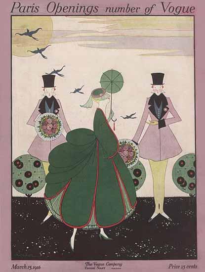 Vogue Magazine 1916-03-15 Copyright | Vogue Magazine Graphic Art Covers 1902-1958