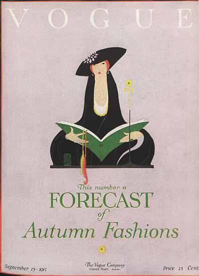 Vogue Magazine 1917-09-15 Copyright | Vogue Magazine Graphic Art Covers 1902-1958