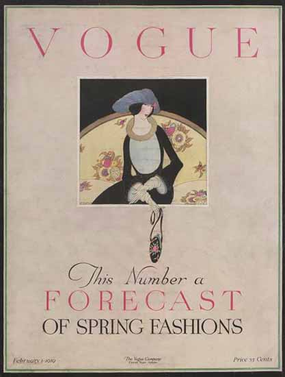 Vogue Magazine 1919-02-01 Copyright | Vogue Magazine Graphic Art Covers 1902-1958