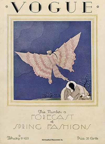 Vogue Magazine 1925-02-15 Copyright | Vogue Magazine Graphic Art Covers 1902-1958