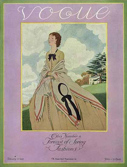 Vogue Magazine 1926-02-15 Copyright | Vogue Magazine Graphic Art Covers 1902-1958
