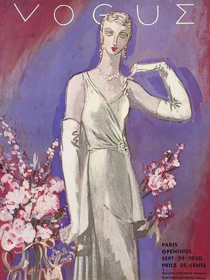 Vogue Magazine 1930-09-29 Copyright   Vogue Magazine Graphic Art Covers 1902-1958