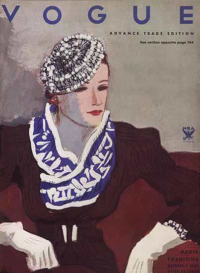 Vogue Magazine 1933-10-01 Copyright | Vogue Magazine Graphic Art Covers 1902-1958
