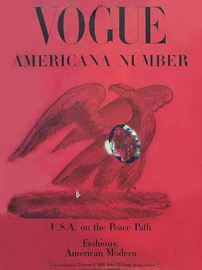 Vogue Magazine Americana Number 1946-02-01 Copyright | Vogue Magazine Graphic Art Covers 1902-1958