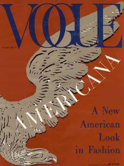 Vogue Magazine Americana Number 1958-02-01 Copyright | Vogue Magazine Graphic Art Covers 1902-1958