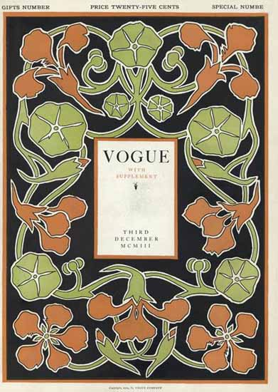 Vogue Magazine Cover 1903-12-03 Copyright | Vogue Magazine Graphic Art Covers 1902-1958