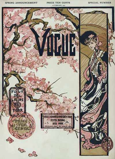Vogue Magazine Cover 1905-02-16 Copyright | Vogue Magazine Graphic Art Covers 1902-1958