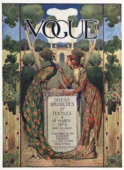 Vogue Magazine Cover 1909-03-18 Copyright | Vogue Magazine Graphic Art Covers 1902-1958
