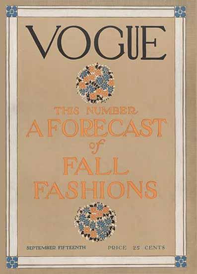 Vogue Magazine Cover 1910-09-15 Copyright | Vogue Magazine Graphic Art Covers 1902-1958