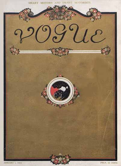 Vogue Magazine Cover 1911-01-01 Copyright | Vogue Magazine Graphic Art Covers 1902-1958