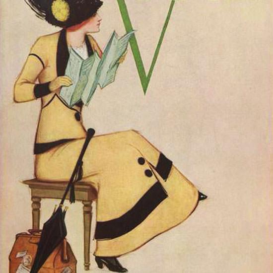Vogue Magazine Cover 1911-05-15 Copyright crop | Best of Vintage Cover Art 1900-1970