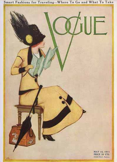 Vogue Magazine Cover 1911-05-15 Copyright | Vogue Magazine Graphic Art Covers 1902-1958