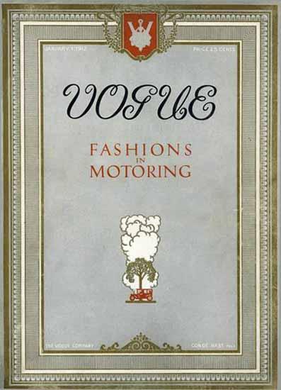 Vogue Magazine Cover 1912-01-01 Copyright | Vogue Magazine Graphic Art Covers 1902-1958