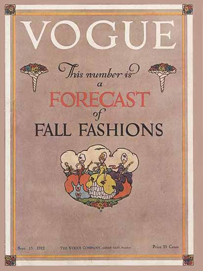 Vogue Magazine Cover 1912-09-15 Copyright | Vogue Magazine Graphic Art Covers 1902-1958