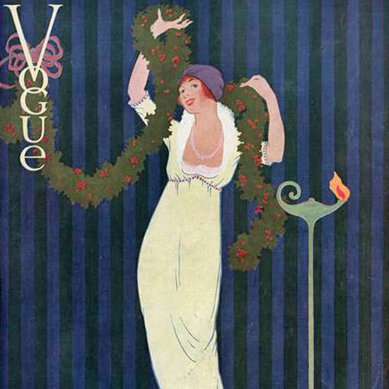 Vogue Magazine Cover 1912-12-15 Copyright crop | Best of Vintage Cover Art 1900-1970