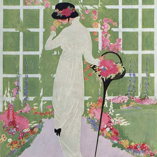 Vogue Magazine Cover 1913-05-15 Copyright crop | Best of Vintage Cover Art 1900-1970