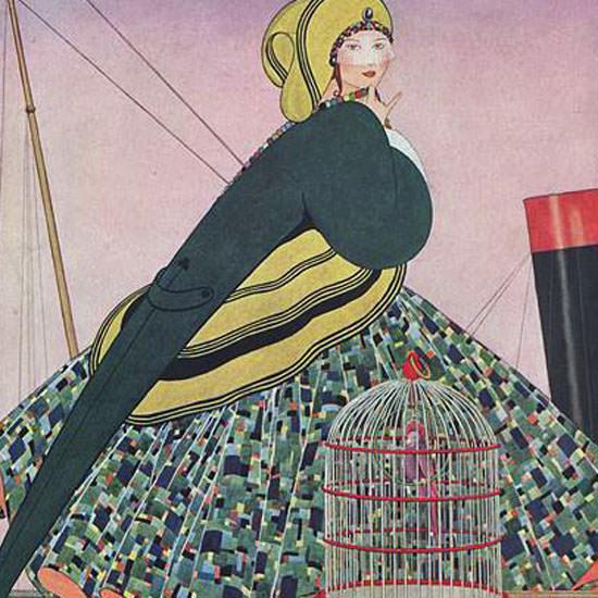 Vogue Magazine Cover 1914-06-15 Copyright crop | Best of Vintage Cover Art 1900-1970