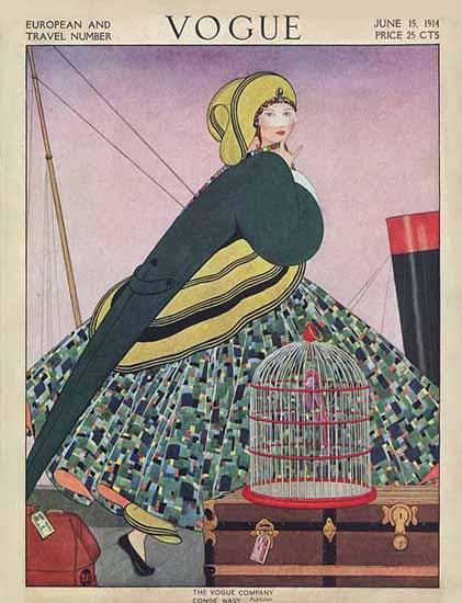 Vogue Magazine Cover 1914-06-15 Copyright | Vogue Magazine Graphic Art Covers 1902-1958