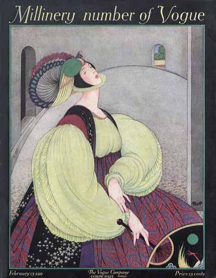 Vogue Magazine Cover 1916-02-15 Copyright | Vogue Magazine Graphic Art Covers 1902-1958