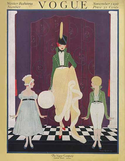 Vogue Magazine Cover 1916-11-01 Copyright | Vogue Magazine Graphic Art Covers 1902-1958