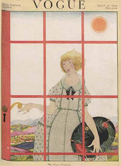 Vogue Magazine Cover 1920-03-15 Copyright | Vogue Magazine Graphic Art Covers 1902-1958