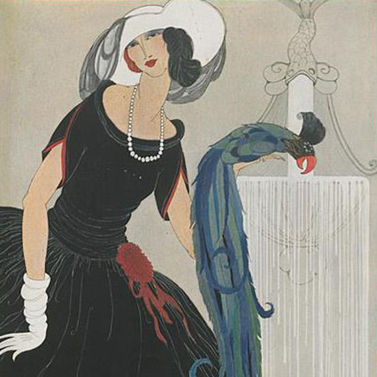 Vogue Magazine Cover 1921-06-01 Copyright crop | Best of Vintage Cover Art 1900-1970