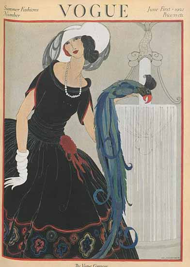 Vogue Magazine Cover 1921-06-01 Copyright | Vogue Magazine Graphic Art Covers 1902-1958