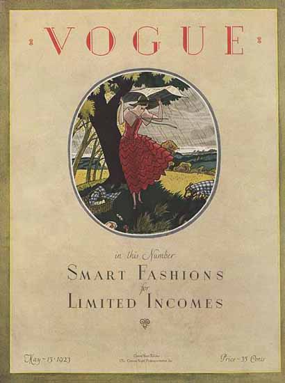Vogue Magazine Cover 1923-05-15 Copyright | Vogue Magazine Graphic Art Covers 1902-1958